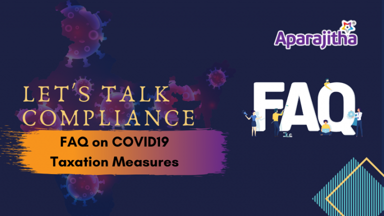 FAQ on COVID19 - Taxation Relief in India