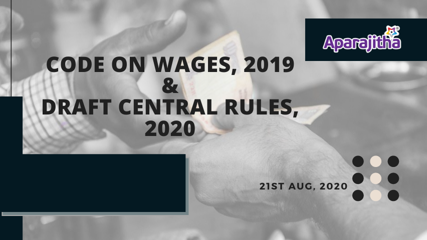 Code on wages 2019 show exchange of cash to the service offered by labour