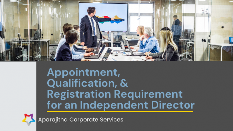 Appointment Qualification and Registration Requirement for an Independent Director